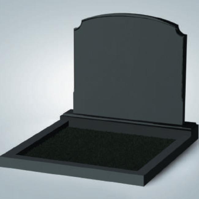 Черный семейный памятник из гранита