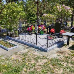 Благоустройства места захоронения №34