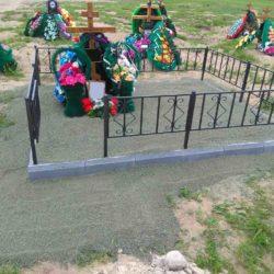 Благоустройства места захоронения №30