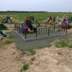 Благоустройства места захоронения №43
