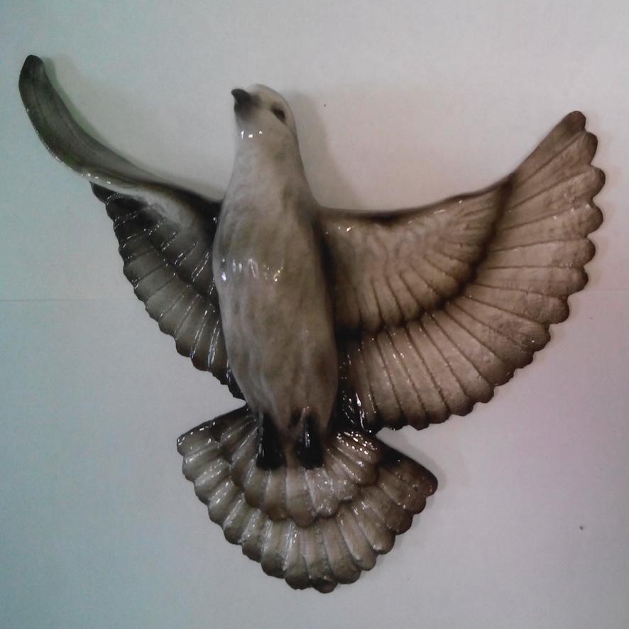 Ритуальный голубь Цвет серый