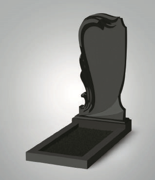 Черный фигурный памятник из гранита