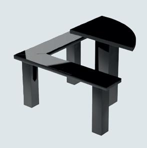 Гранитный стол и лавка tab-50